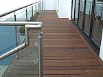 Stainless steel balustrade, railing and handrail system with toughened glass panes