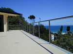 Stainless steel balustrade, railing and handrail system with horizontal tension wires