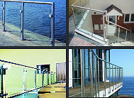 Wire and Glass Infill Stainless Steel Balustrade Gallery